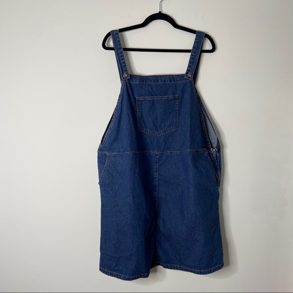 New Look Curves | Bib Overall Denim Jumper Dress